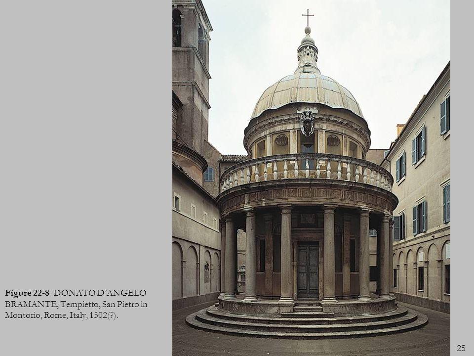 Figure 22-8 DONATO D'ANGELO BRAMANTE, Tempietto, San Pietro in Montorio, Rome, Italy, 1502( ).