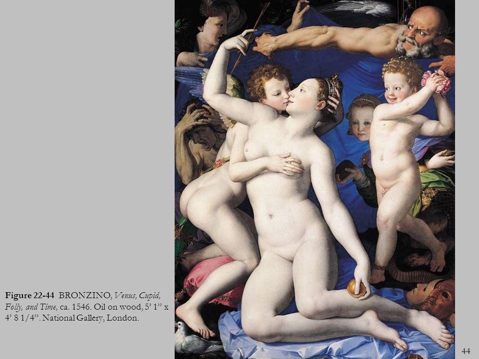 Figure 22-44 BRONZINO, Venus, Cupid, Folly, and Time, ca. 1546
