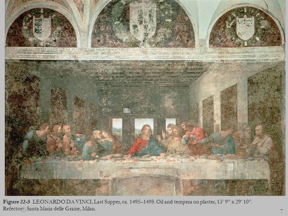 Figure 22-3 LEONARDO DA VINCI, Last Supper, ca. 1495–1498