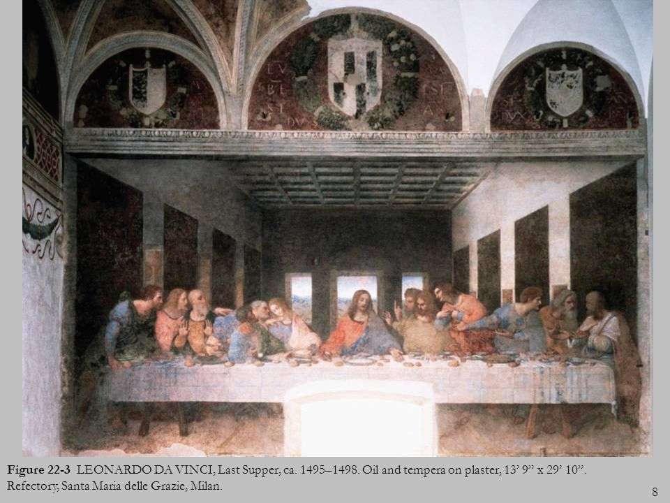 Figure 22-3 LEONARDO DA VINCI, Last Supper, ca. 1495–1498
