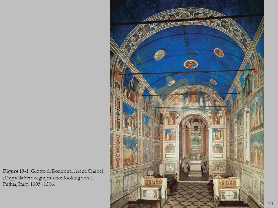 Figure 19-1 Giotto di Bondone, Arena Chapel (Cappella Scrovegni; interior looking west), Padua, Italy, 1305–1306.
