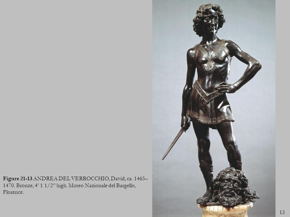Figure 21-13 ANDREA DEL VERROCCHIO, David, ca. 1465–1470