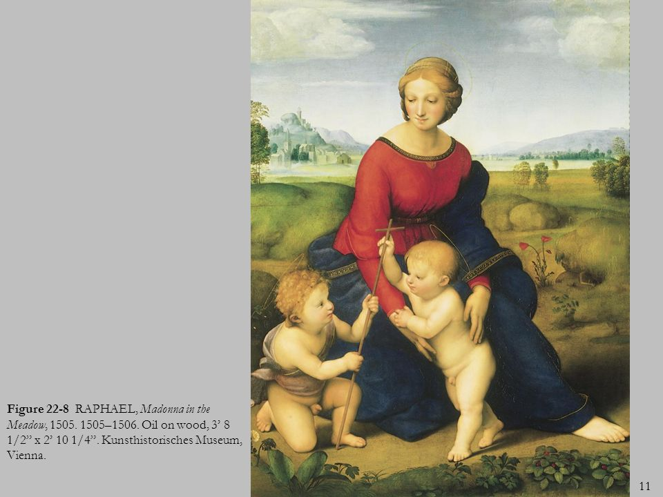 Figure 22-8 RAPHAEL, Madonna in the Meadow, 1505. 1505–1506