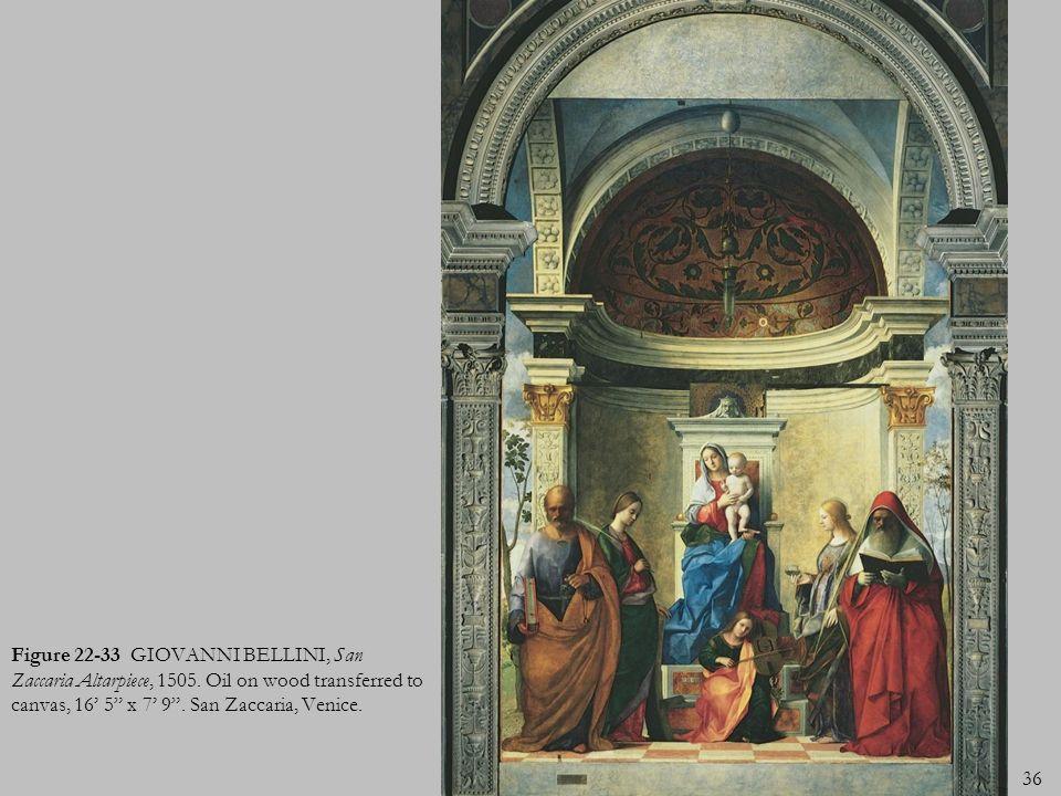 Figure 22-33 GIOVANNI BELLINI, San Zaccaria Altarpiece, 1505