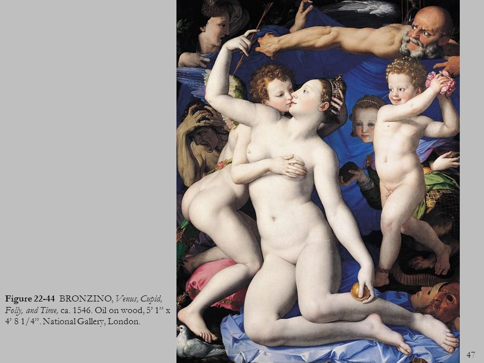 Figure 22-44 BRONZINO, Venus, Cupid, Folly, and Time, ca. 1546