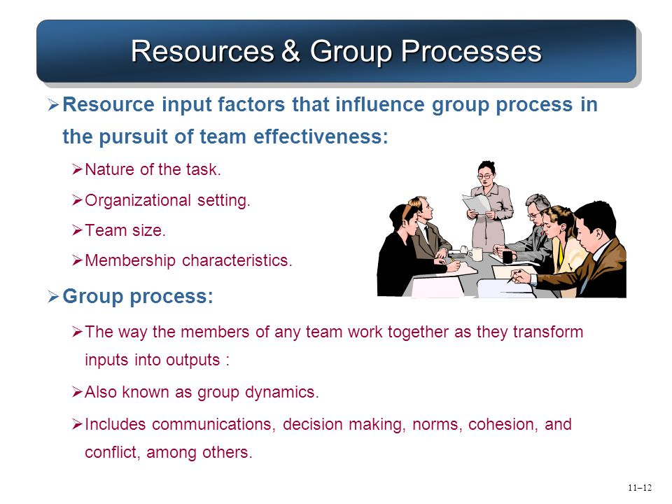 Resources & Group Processes