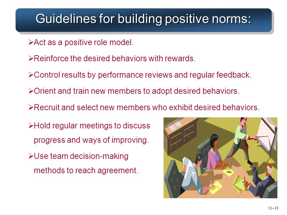 Guidelines for building positive norms: