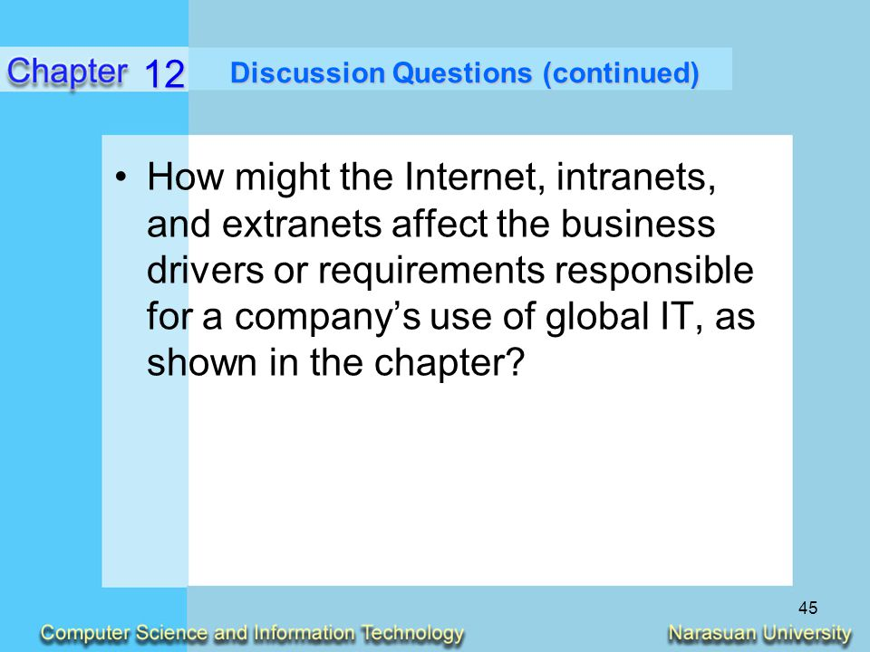 impact internet intranet and extranet business With global internet users estimated at 1966514816 and some 77 percent of the  us population connected, internet use is now part of the mainstream.