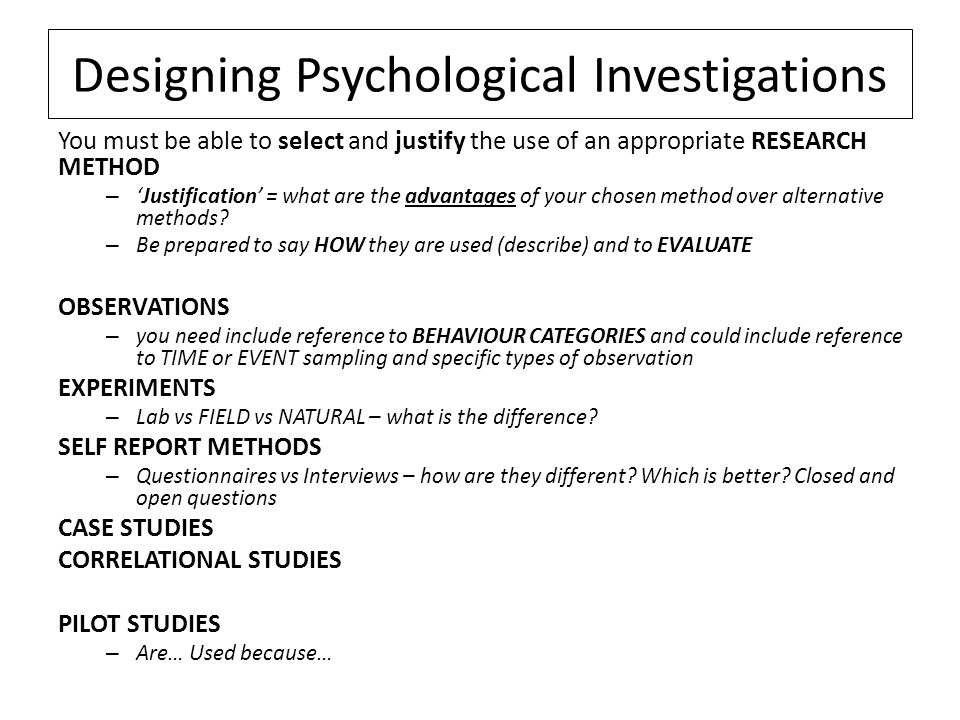 case study design psychology