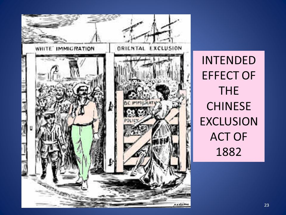 "impact of the chinese exclusion act essay Read this full essay on chinese exclusion act  1409 words - 6 pages  impact of the chinese exclusion act ""many chinese immigrants falsely claimed."