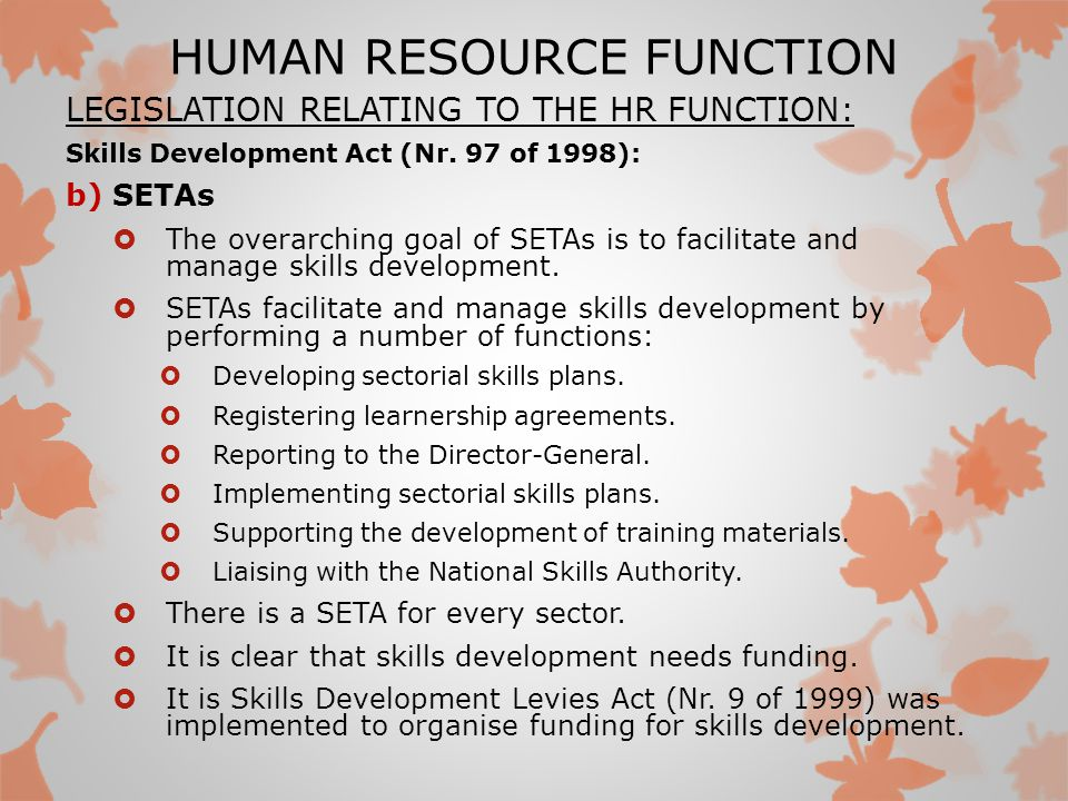 role of human resource development Education is the most important factor in human resource development  and with that being said education plays big role in human development and indeed it is a.