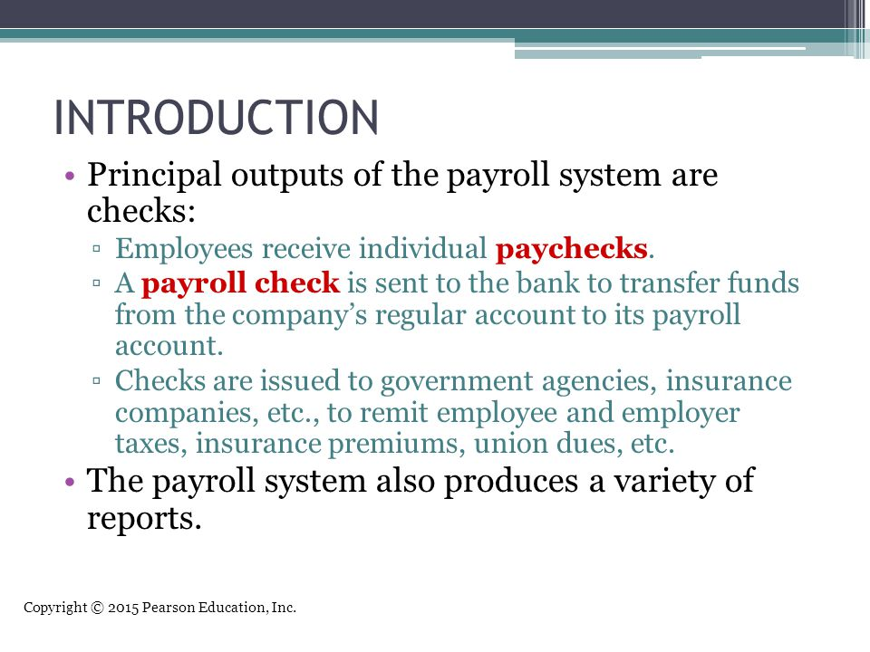 An Introduction to Payroll Systems