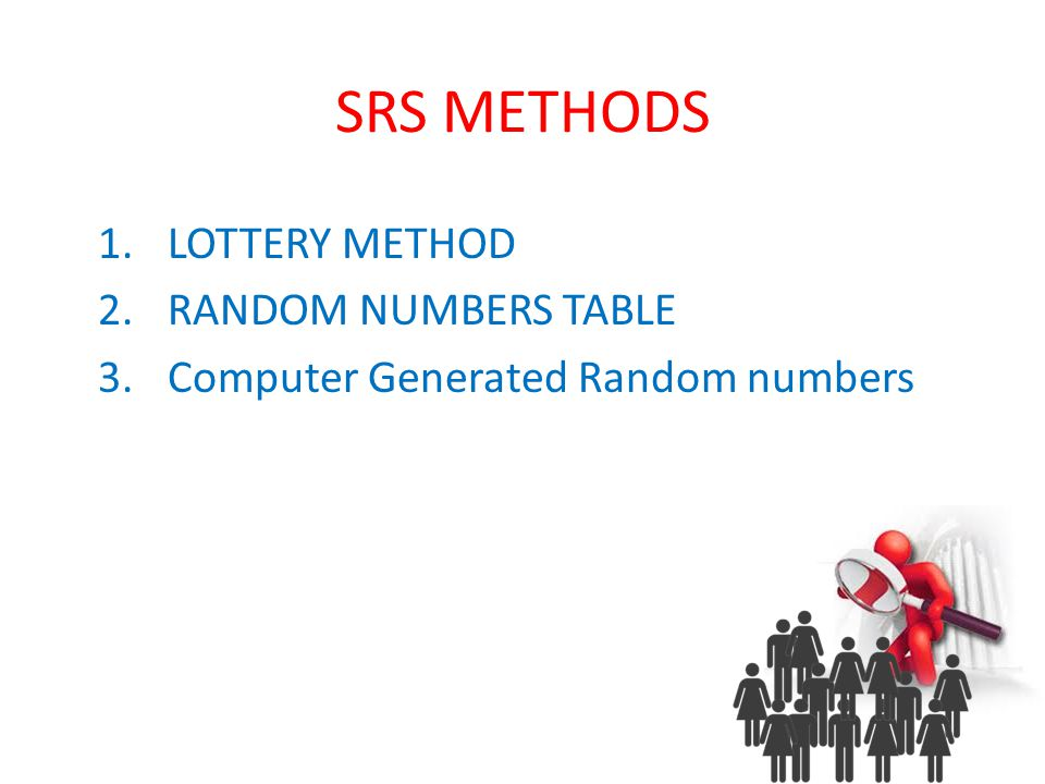 lottery method of sampling pdf