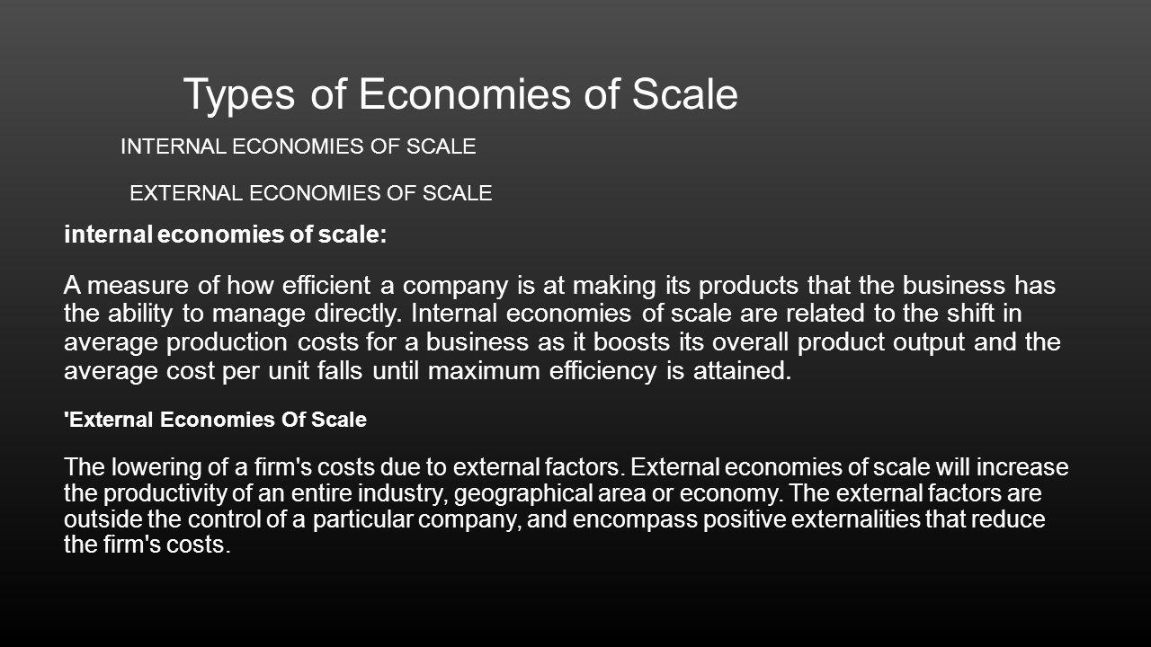 internal external economies in mumbai