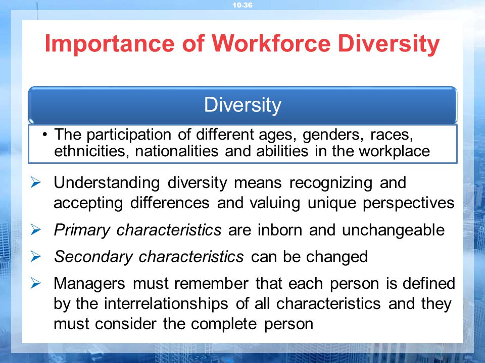 describe forms of workforce diversity Diversity & inclusion vision, mission and strategic workforce to achieve superior diversity & inclusion vision, mission and strategic objectives.