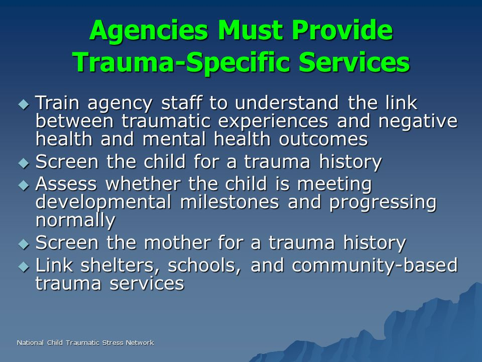 trauma services in community