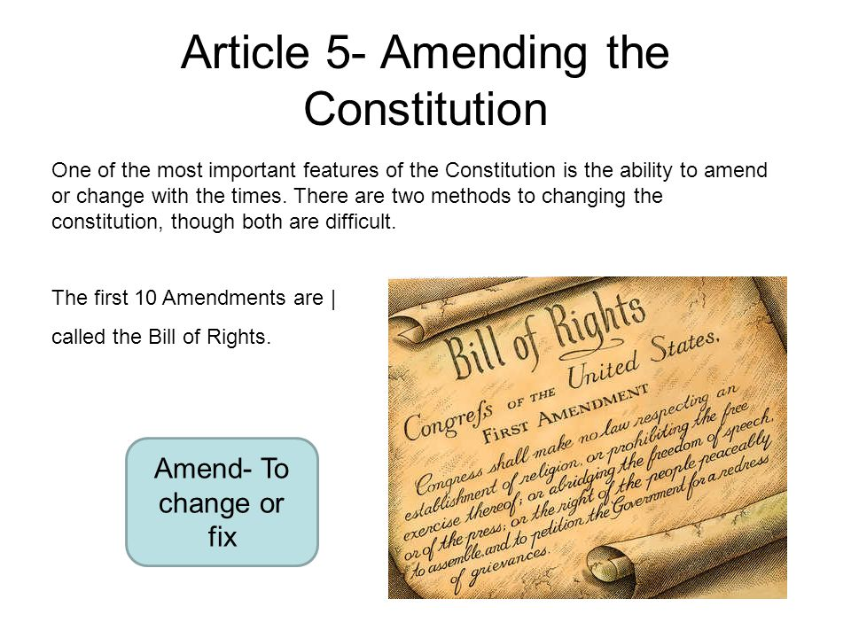 article your five connected with your constitution