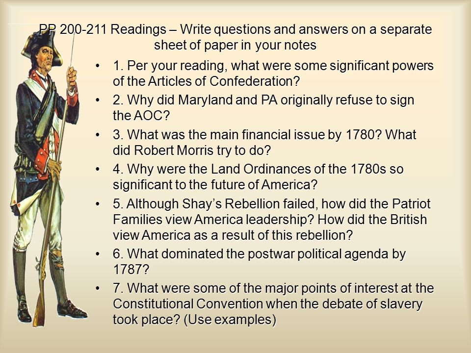 3 Major Problems And Examples Of The Articles Of Confederation