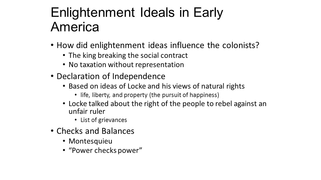 influences on early american l essay