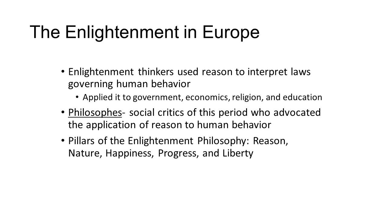 how the enlightenment philosophers impacted on the progress of society Enlightenment and revolution 1550-1789 section 1 scientific revolution main idea in the mid 1500s, scientists began to question accepted beliefs and make new.