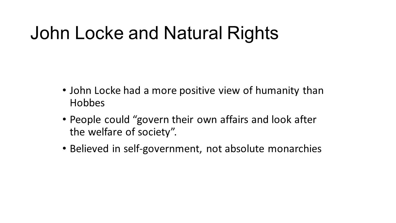 Are Humans Born With Natural Rights