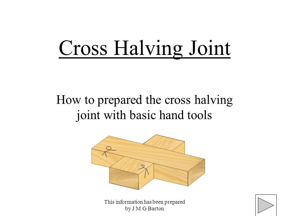 how to build a cross joint