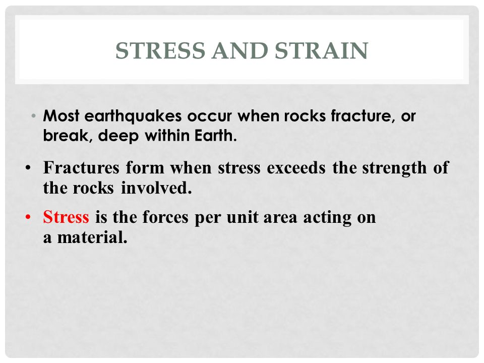 stress and strain relationship in rocks
