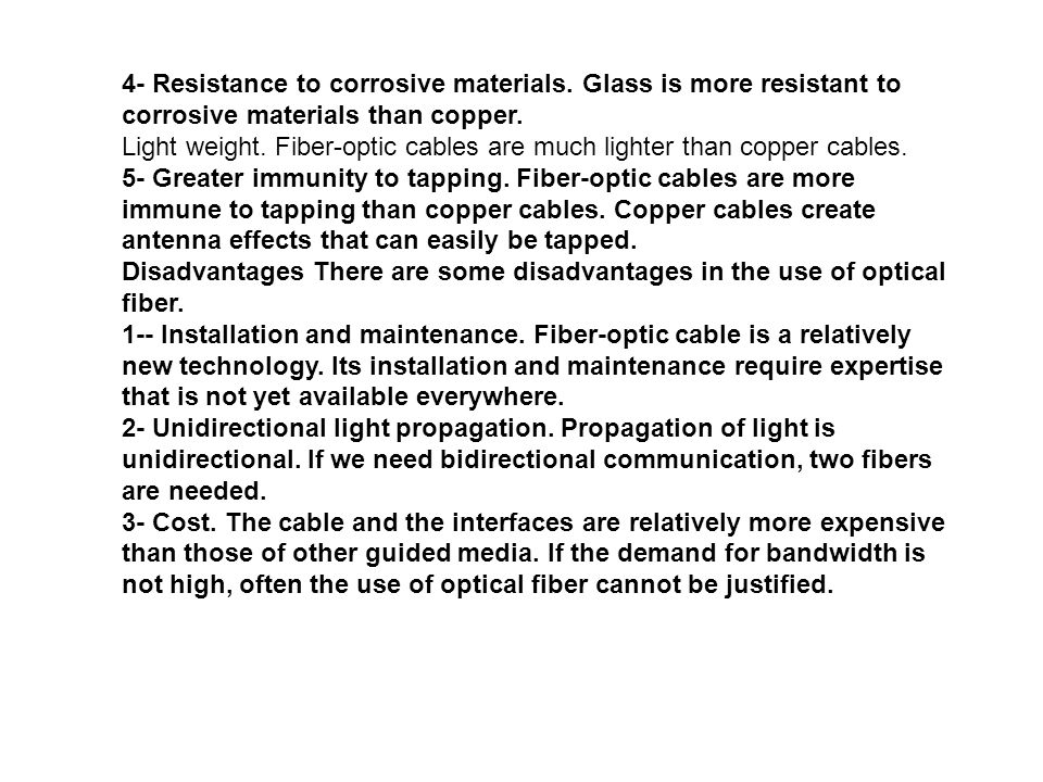 4- Resistance to corrosive materials