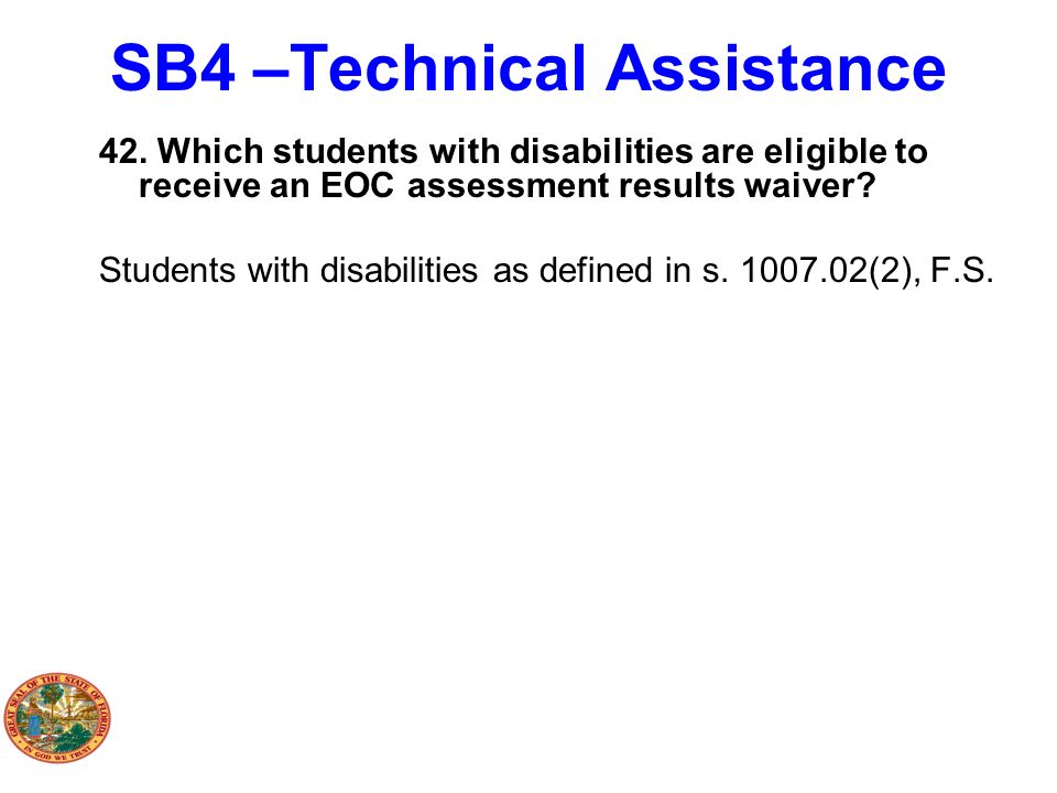 SB4 –Technical Assistance