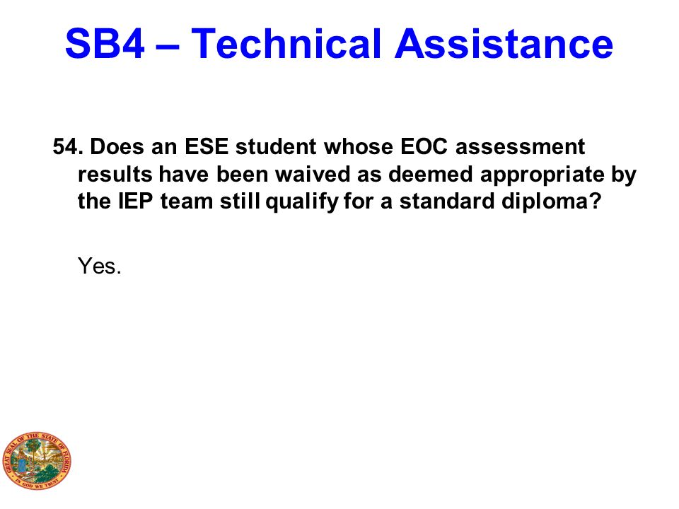 SB4 – Technical Assistance