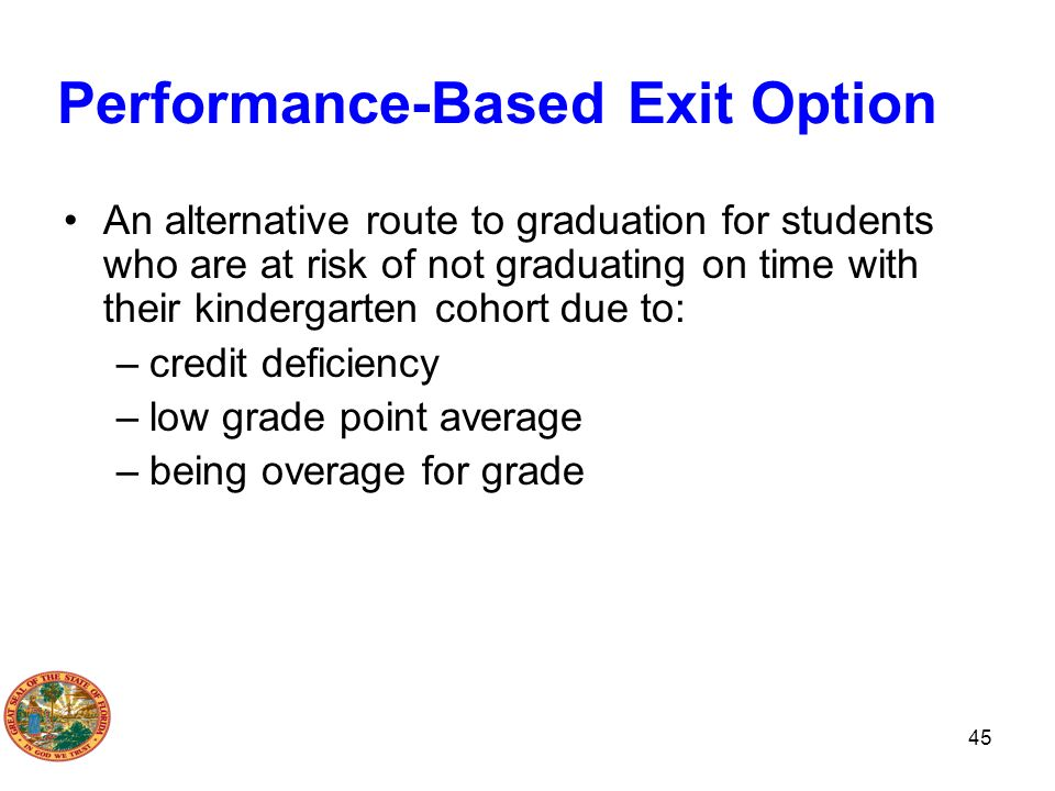 Performance-Based Exit Option