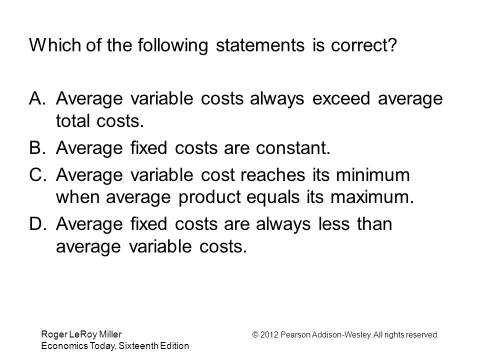 variable cost and correct answer Variable cost support your answer with obvious calculations and concisely justify your choice all of these answers are correct 39 the high-low method.