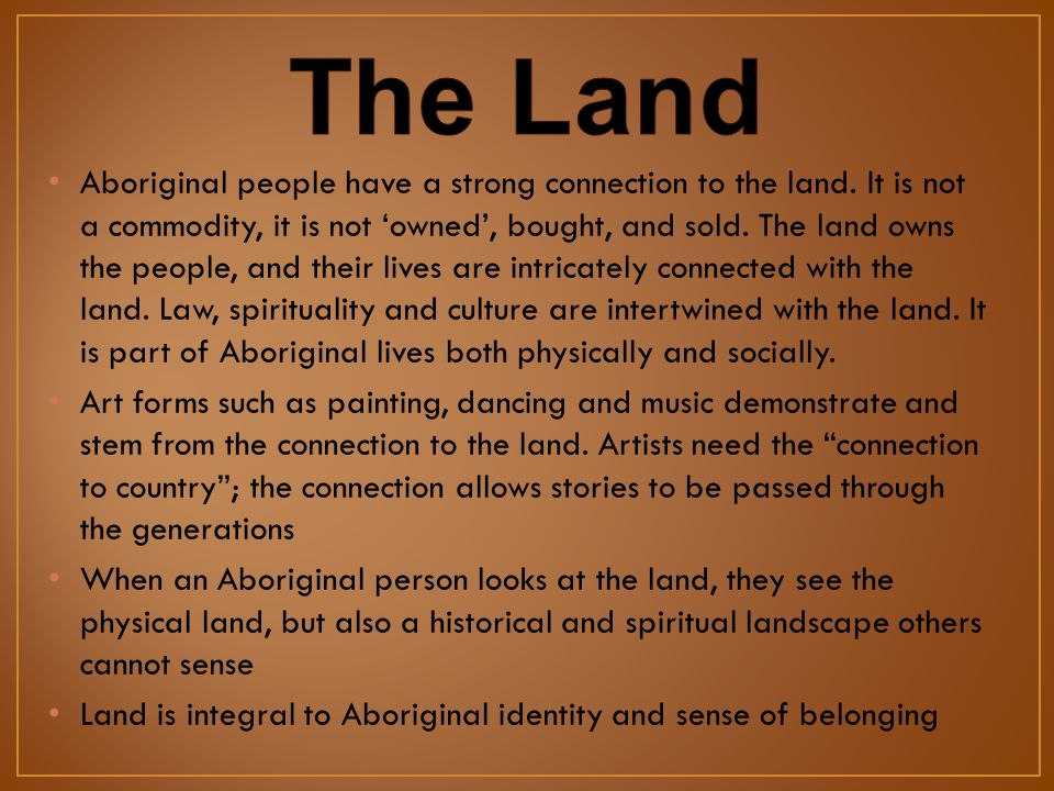 aboriginal relationship to land and country