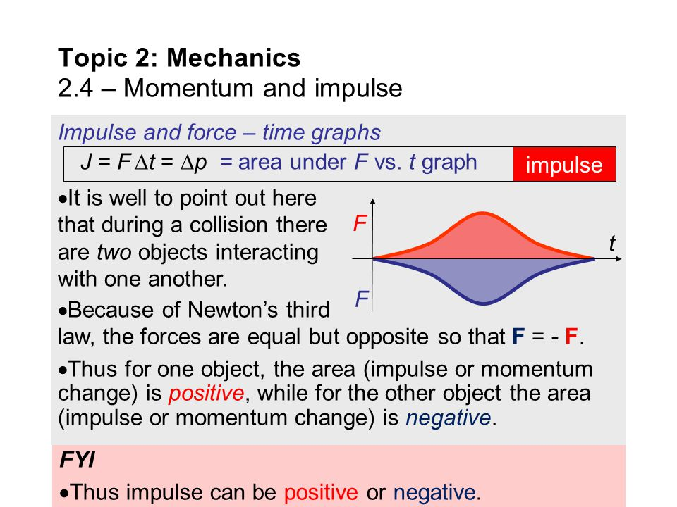 Topic 2: Mechanics 2.4 – Momentum and impulse - ppt download