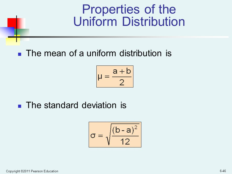 how to find the standard deviation of a uniform distribution