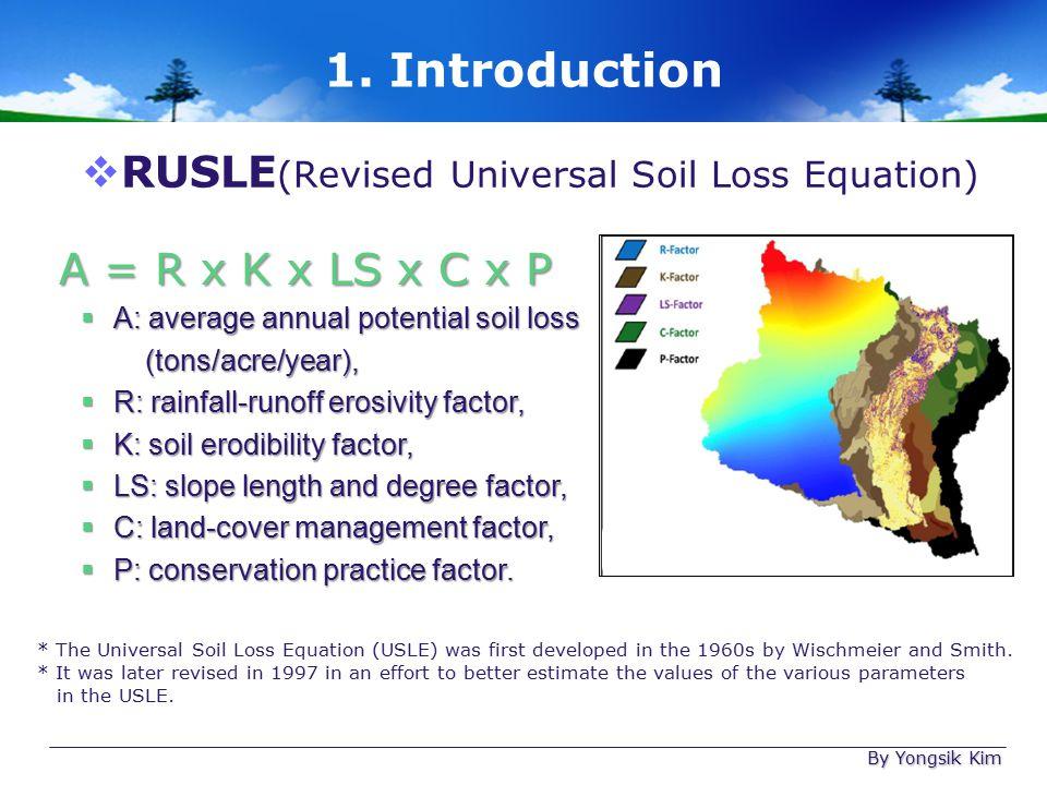 Soil erosion assessment using gis and rusle model ppt for Soil k factor