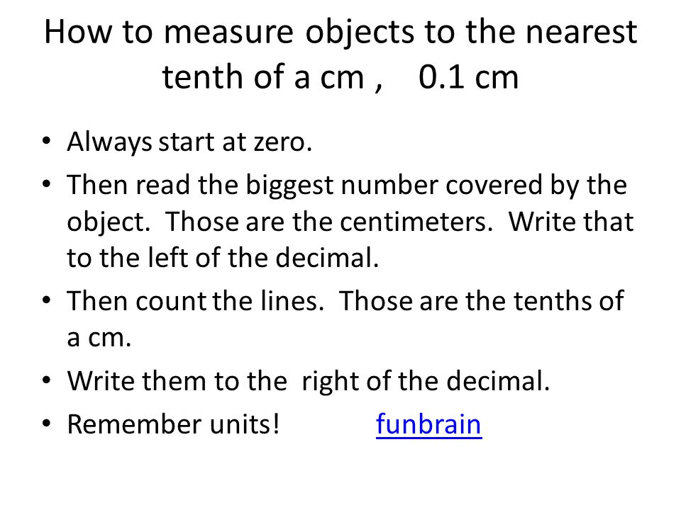 Drawing Lines To Nearest Cm : Measurement ppt video online download