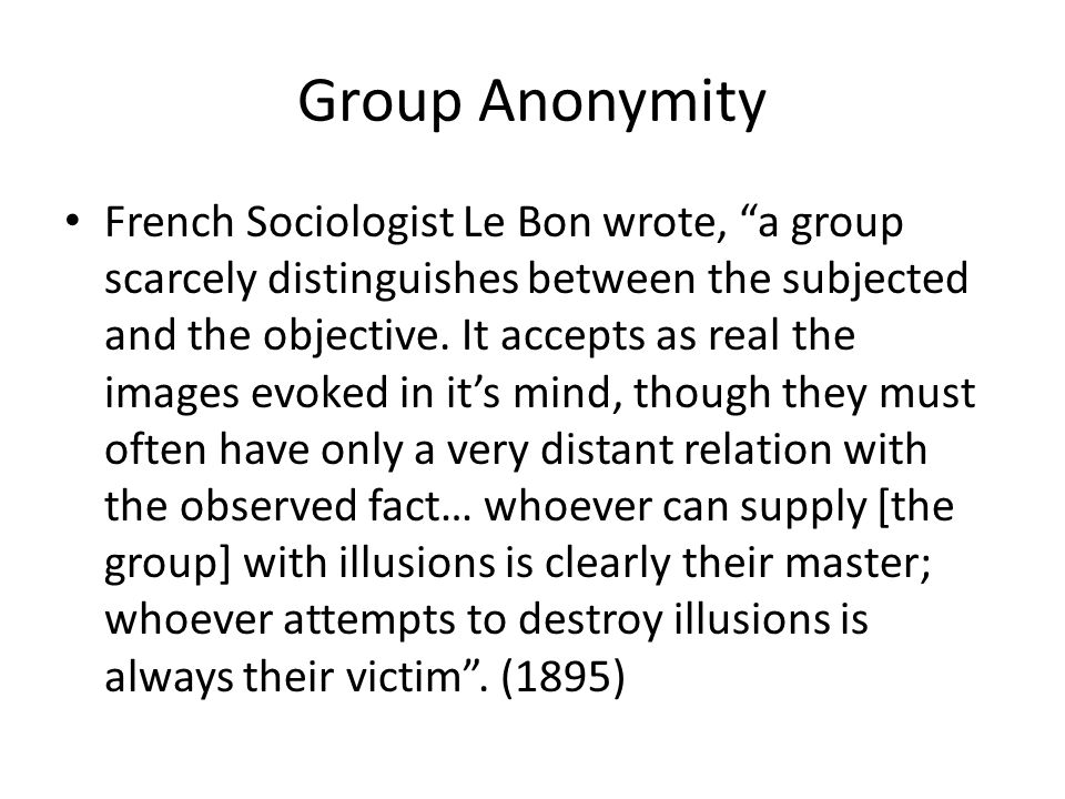Group Anonymity