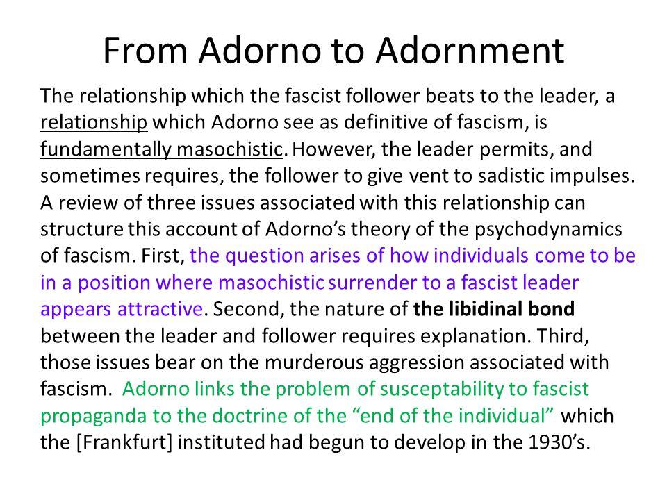 From Adorno to Adornment
