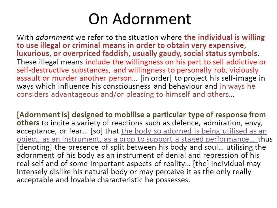 On Adornment