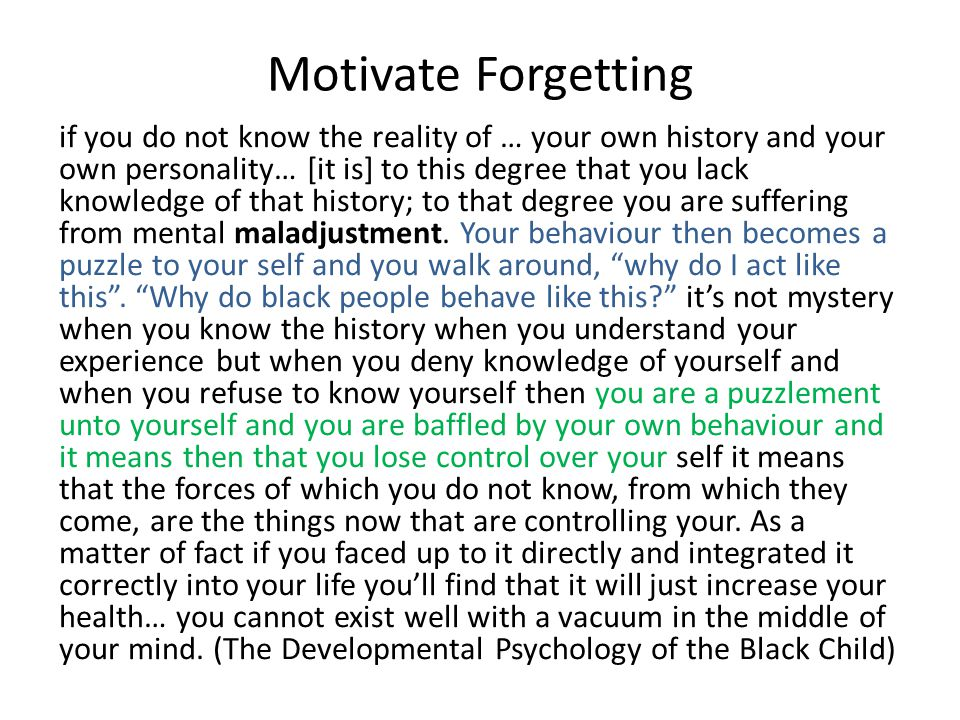 Motivate Forgetting