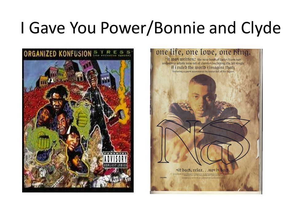 I Gave You Power/Bonnie and Clyde