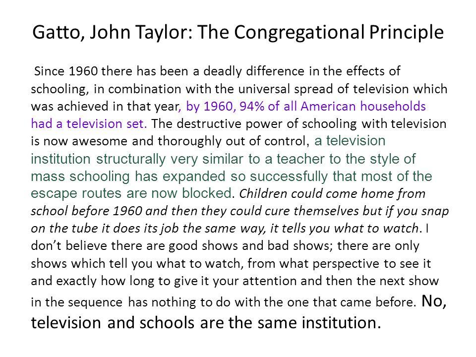 Gatto, John Taylor: The Congregational Principle