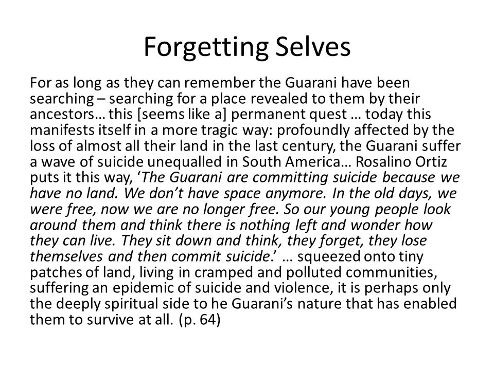 Forgetting Selves