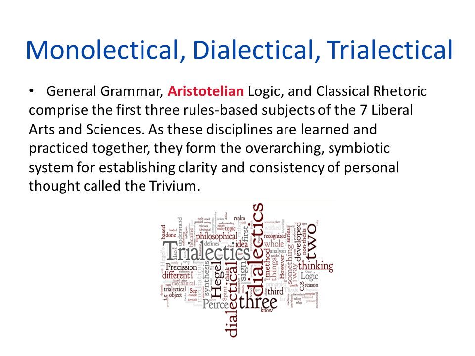 Monolectical, Dialectical, Trialectical