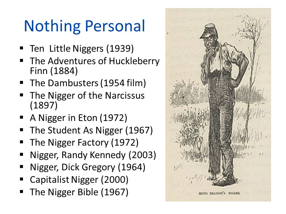 Nothing Personal Ten Little Niggers (1939)