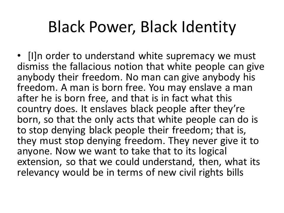 Black Power, Black Identity