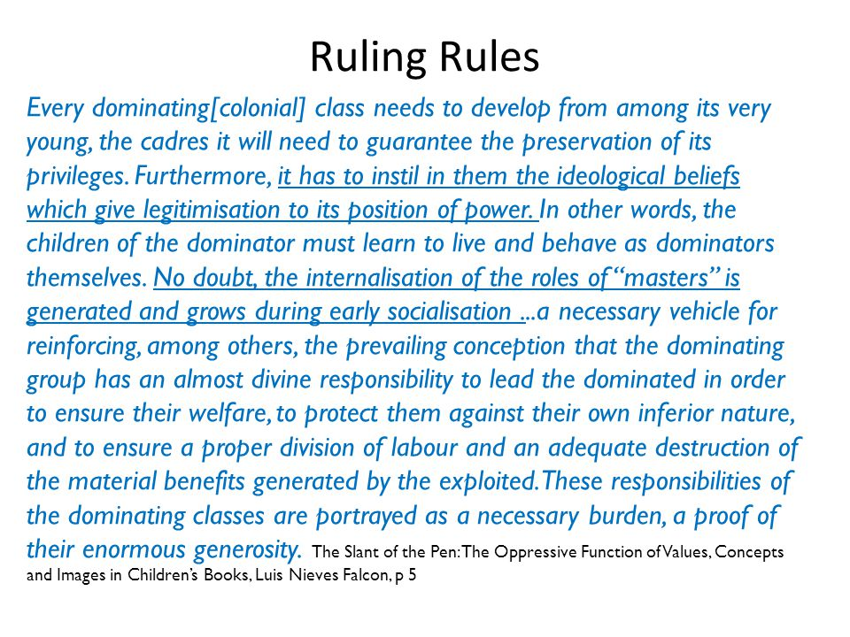 Ruling Rules