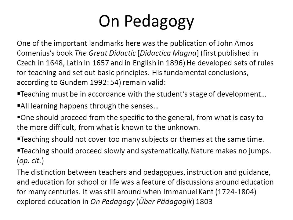 On Pedagogy