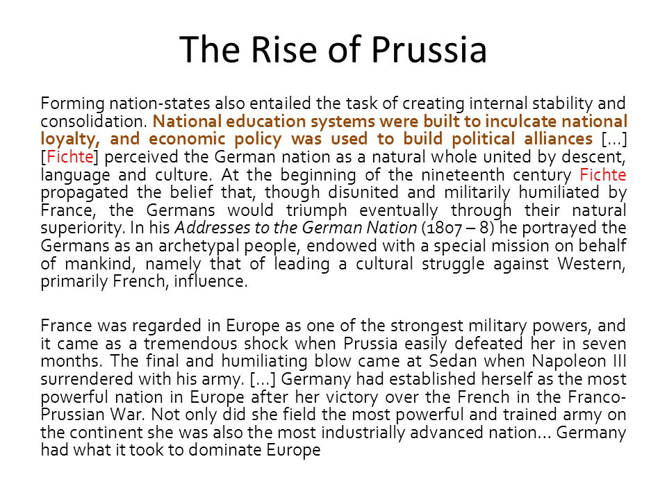 The Rise of Prussia